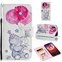 Недорогие Чехлы и кейсы для Xiaomi-Кейс для Назначение Xiaomi Redmi 6 / Xiaomi Mi Max 3 Кошелек / Бумажник для карт / со стендом Чехол Воздушные шары / Слон Твердый Кожа PU для Xiaomi Redmi Note 6 / Xiaomi Pocophone F1 / Redmi 6A