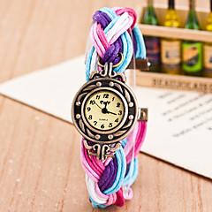 preiswerte Damenuhren-Damen Armbanduhr Quartz Wickeln Rosa / Fuchsia / Gelb Armbanduhren für den Alltag lieblich Analog damas Modisch Mehrfarbig - Blau / Schwarz Pfirsich Schwarz / Weiß
