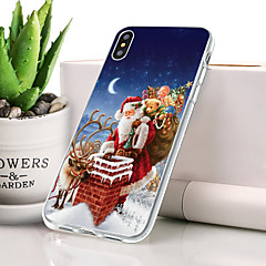 abordables Fundas para iPhone-Funda Para Apple iPhone XS Antipolvo / Ultrafina Funda Trasera Navidad Suave TPU para iPhone XS