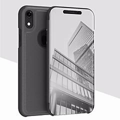 Недорогие Кейсы для iPhone-Кейс для Назначение Apple iPhone XR / iPhone XS Max со стендом / Покрытие / Зеркальная поверхность Кейс на заднюю панель Однотонный Твердый Акрил для iPhone XS / iPhone XR / iPhone XS Max