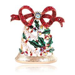 Недорогие Женские украшения-Жен. Броши - Искусственный жемчуг Расклешенные Милая Брошь Золотой Назначение Рождество
