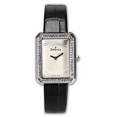 preiswerte Damenuhren-Damen damas Armbanduhr Quartz Armbanduhren für den Alltag Imitation Diamant Leder Band Analog Modisch Schwarz / Weiß / Braun - Weiß Schwarz Braun