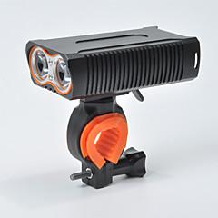 abordables Luces para bicicleta-Luz Frontal para Bicicleta LED Luces para bicicleta Ciclismo Impermeable, Portátil 18650.0 1600 lm 18650 Blanco Camping / Senderismo / Cuevas / Ciclismo