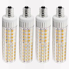 お買い得  LED 電球-4本 8.5 W 1105 lm E12 LEDコーン型電球 T 125 LEDビーズ SMD 2835 調光可能 温白色 / クールホワイト 110 V