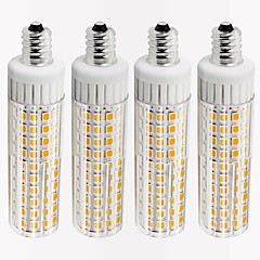 preiswerte LED-Birnen-4pcs 8.5 W 1105 lm E12 LED Mais-Birnen T 125 LED-Perlen SMD 2835 Abblendbar Warmes Weiß / Kühles Weiß 110 V