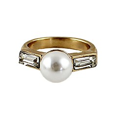 preiswerte Ringe-Damen Perle Byzantinisch Bandring - Perle Geometrisch, Grundlegend 7 Gold Für Alltag Verabredung