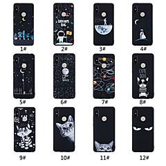 Недорогие Чехлы и кейсы для Xiaomi-Кейс для Назначение Xiaomi Mi 8 / Mi 8 SE Матовое / С узором Кейс на заднюю панель Слова / выражения / Пейзаж / Животное Мягкий ТПУ для Redmi Note 5A / Xiaomi Redmi Note 5 Pro / Xiaomi Redmi Note 6