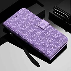Недорогие Кейсы для iPhone 7-Кейс для Назначение Apple iPhone XR / iPhone XS Max Кошелек / Бумажник для карт / со стендом Чехол Цветы Твердый Кожа PU для iPhone XS / iPhone XR / iPhone XS Max