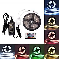 abordables Tiras de Luces RGB-BRELONG® 5 m Tiras de Luces RGB 300 LED SMD5050 RGB Impermeable / Fiesta / Decorativa 100-240 V 1pc / Auto-Adhesivas