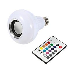 お買い得  LED 電球-1pcスマートe27 rgbブルートゥーススピーカーled電球ライト12w音楽再生dimmableワイヤレスledランプ24キーリモコン