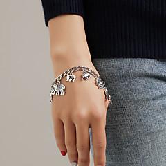 preiswerte Armbänder-Damen Retro Ketten- & Glieder-Armbänder Bettelarmbänder Armband mit Anhänger - Elefant, Tier Einzigartiges Design, Quaste, Modisch Armbänder Silber Für Geschenk Alltag Bar