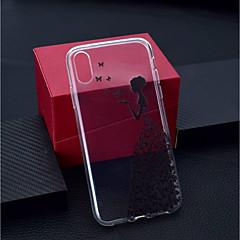 Недорогие Кейсы для iPhone 7-Кейс для Назначение Apple iPhone XR / iPhone XS Max Прозрачный / С узором Кейс на заднюю панель Бабочка / Соблазнительная девушка Мягкий ТПУ для iPhone XS / iPhone XR / iPhone XS Max