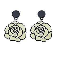 preiswerte Ohrringe-Damen Crossbody Tropfen-Ohrringe - Blume Grundlegend, Modisch Beige / Weiß Für Alltag Verabredung