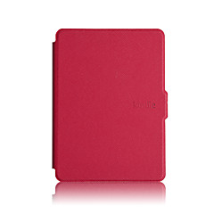 cheap Tablet Cases-Case For Kindle / Amazon Back Cover / Full Body Cases / Shockproof Case Full Body Cases Solid Colored Hard PU Leather for