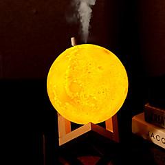 preiswerte Ausgefallene LED-Beleuchtung-HKV 1 set MOON LED-Nachtlicht / 3D Nachtlicht Dreifarbig USB Geburtstag / Befeuchtet / Nacht 5 V