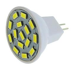 お買い得  LED 電球-SENCART 1個 / 6本 6W 450lm G4 / MR11 LEDスポットライト MR11 15 LEDビーズ SMD 5630 装飾用 温白色 / ホワイト / ブルー 12-24V