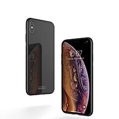 Недорогие Кейсы для iPhone X-Nillkin Кейс для Назначение Apple iPhone XR / iPhone XS Max Защита от удара / Зеркальная поверхность / С узором Кейс на заднюю панель Однотонный Твердый Закаленное стекло / ПК для iPhone XS / iPhone