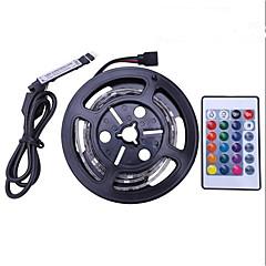 abordables Sets de Luces-1m Sets de Luces 30 LED SMD5050 1 Controlador remoto de 24 teclas RGB Impermeable / Cortable / USB 5 V 1 juego