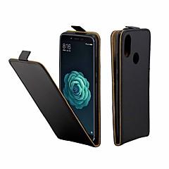 Недорогие Чехлы и кейсы для Xiaomi-Кейс для Назначение Xiaomi Mi 6X Бумажник для карт / Флип Чехол Однотонный Твердый Кожа PU для Xiaomi Mi 6X(Mi A2)