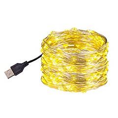 お買い得  LED ストリングライト-10m フレキシブルLEDライトストリップ 100 LED SMD 0603 温白色 / ホワイト / マルチカラー 防水 / USB / パーティー USBパワード 1個