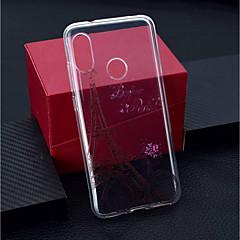 Недорогие Чехлы и кейсы для Xiaomi-Кейс для Назначение Xiaomi Xiaomi Pocophone F1 / Xiaomi Redmi 6 Pro Прозрачный / С узором Кейс на заднюю панель Эйфелева башня Мягкий ТПУ для Xiaomi Redmi Note 6 / Xiaomi Pocophone F1 / Xiaomi Redmi