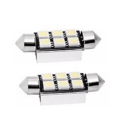 Недорогие Освещение салона авто-2pcs 39mm Автомобиль Лампы 1 W SMD 5050 80 lm 6 Светодиодная лампа Задний свет / Внутреннее освещение Назначение Универсальный Универсальный Универсальный
