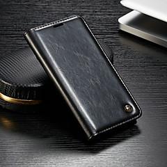 お買い得  その他のケース-CaseMe ケース 用途 OnePlus OnePlus 6 ウォレット / カードホルダー / スタンド付き フルボディーケース ソリッド ハード PUレザー のために OnePlus 6