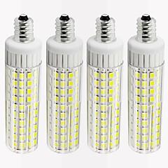 お買い得  LED 電球-4本 8.5 W 1105 lm E12 LEDコーン型電球 T 125 LEDビーズ SMD 2835 調光可能 温白色 / クールホワイト 220 V
