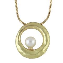abordables Collares de perlas-Mujer Collares con colgantes - Perla Simple, Moda Encantador Dorado, Plata 54.5 cm Gargantillas Joyas 1pc Para Fiesta / Noche, Escuela