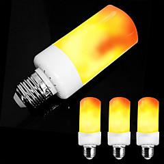 preiswerte LED-Birnen-ZDM® 4pcs 5 W 300 lm E14 / E26 / E27 LED Kugelbirnen / LED Kerzen-Glühbirnen 99 LED-Perlen SMD 2835 Party / Dekorativ / Weihnachtshochzeitsdekoration Bernstein 85-265 V