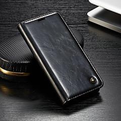 Недорогие Чехлы и кейсы для Sony-CaseMe Кейс для Назначение Sony Xperia Z3 / Xperia Z2 Кошелек / Бумажник для карт / со стендом Чехол Однотонный Твердый Кожа PU для Sony Xperia XZ3 / Xperia XZ2 Compact / Xperia XZ2