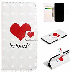 Недорогие Кейсы для iPhone 7 Plus-Кейс для Назначение Apple iPhone XS / iPhone XS Max Кошелек / Бумажник для карт / со стендом Чехол С сердцем Твердый Кожа PU для iPhone XS / iPhone XR / iPhone XS Max
