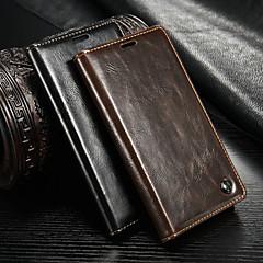 Недорогие Чехлы и кейсы для Sony-CaseMe Кейс для Назначение Sony Xperia Z3 Кошелек / Бумажник для карт / со стендом Чехол Однотонный Твердый Кожа PU для Sony Xperia Z3