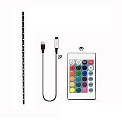 abordables Sets de Luces-2m Sets de Luces 60 LED SMD5050 1 Controlador remoto de 24 teclas RGB Impermeable / Cortable / Decorativa 5 V 1 juego