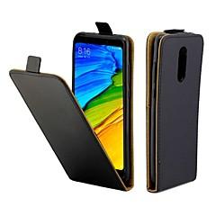 Недорогие Чехлы и кейсы для Xiaomi-Кейс для Назначение Xiaomi Redmi 5 Plus Бумажник для карт / Флип Чехол Однотонный Твердый Кожа PU для Xiaomi Redmi 5 Plus