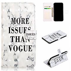 Недорогие Кейсы для iPhone 7 Plus-Кейс для Назначение Apple iPhone XS / iPhone XS Max Кошелек / Бумажник для карт / со стендом Чехол Слова / выражения / Мрамор Твердый Кожа PU для iPhone XS / iPhone XR / iPhone XS Max