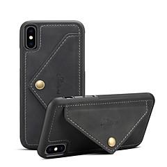 Недорогие Кейсы для iPhone 7 Plus-Кейс для Назначение Apple iPhone XR / iPhone XS Max Кошелек / Бумажник для карт / Защита от удара Кейс на заднюю панель Однотонный Твердый Кожа PU для iPhone XS / iPhone XR / iPhone XS Max