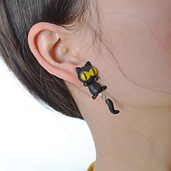preiswerte Ohrringe-Damen Skulptur Tropfen-Ohrringe - Erklärung Zeichentrick Schmuck Schwarz Für Normal Alltag Strasse 1 Paar