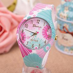 お買い得  レディース腕時計-女性用 ファッションウォッチ クォーツ 多色 ハンズ 花型 - Brown ブルー 虹色