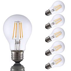 お買い得  LED 電球-GMY® 6本 4 W 350 lm E26 / E27 フィラメントタイプLED電球 A19 4 LEDビーズ COB 装飾用 温白色 120 V