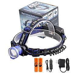 preiswerte Stirnlampen-U'King Stirnlampen Fahrradlicht LED LED Sender 2000 lm 3 Beleuchtungsmodus inklusive Batterien und Ladegeräten Zoomable-, Alarm, einstellbarer Fokus Camping / Wandern / Erkundungen, Für den täglichen