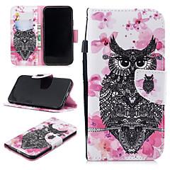 Недорогие Кейсы для iPhone-Кейс для Назначение Apple iPhone XR Кошелек / Бумажник для карт / Защита от удара Чехол Сова Твердый Кожа PU для iPhone XR