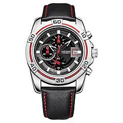 お買い得  メンズ腕時計-男性用 リストウォッチ クォーツ ブラック カレンダー ハンズ ファッション - レッド / ステンレス