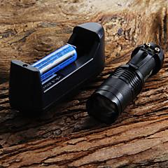 preiswerte Taschenlampen-LED Taschenlampen LED 1 Sender 300 lm Wasserfest, einstellbarer Fokus Camping / Wandern / Erkundungen, Für den täglichen Einsatz, Radsport