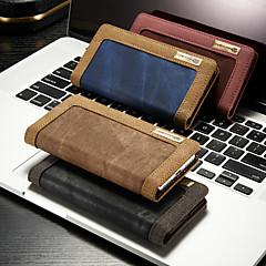 Недорогие Кейсы для iPhone-CaseMe Кейс для Назначение Apple iPhone XS Max / iPhone 7 Plus Водонепроницаемый / Бумажник для карт / со стендом Чехол Однотонный Твердый текстильный для iPhone XS / iPhone XR / iPhone XS Max