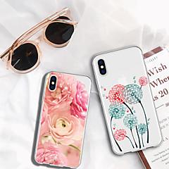 Недорогие Кейсы для iPhone-Кейс для Назначение Apple iPhone XR / iPhone XS Max С узором Кейс на заднюю панель Растения / Мультипликация / Цветы Мягкий ТПУ для iPhone XS / iPhone XR / iPhone XS Max