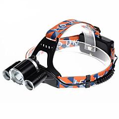 お買い得  ヘッドランプ-U'King ZQ-X820 ヘッドランプ 自転車用ヘッドライト LED LED 3 エミッタ 2000 lm 4.0 照明モード アラーム, 充電式, 小型 キャンプ / ハイキング / ケイビング, サイクリング, 狩猟