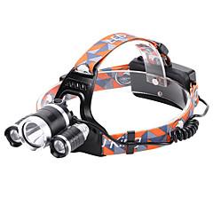 preiswerte Stirnlampen-Stirnlampen Radlichter Fahrradlicht LED Cree® XM-L T6 3 Sender 3000 lm 4.0 Beleuchtungsmodus Wasserfest, Stoßfest, Wiederaufladbar Camping / Wandern / Erkundungen, Für den täglichen Einsatz, Polizei