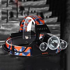 お買い得  ヘッドランプ-U'King ZQ-X823 ヘッドランプ 自転車用ヘッドライト LED LED 3 エミッタ 4500 lm 4.0 照明モード 充電式, 小型, ハイパワー キャンプ / ハイキング / ケイビング, サイクリング, 狩猟