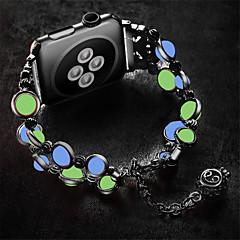 ieftine -Uita-Band pentru Apple Watch Series 5/4/3/2/1 Apple Design Bijuterie Oțel inoxidabil Curea de Încheietură